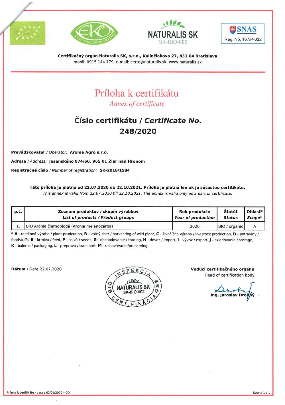 bio certif